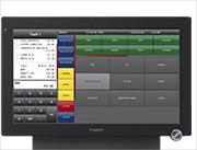 Übersichtlicher 15,6-Zoll-Breitbild-LCD-Bildschirm der CASIO Kasse V-R7000 KC / V-R7100 KC