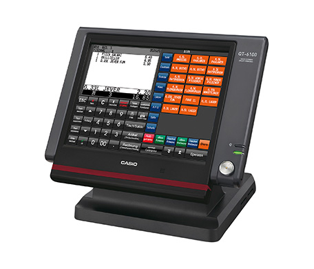 CASIO Kasse QT-6100 mit Touch-Screen-LCD-Bildschirm